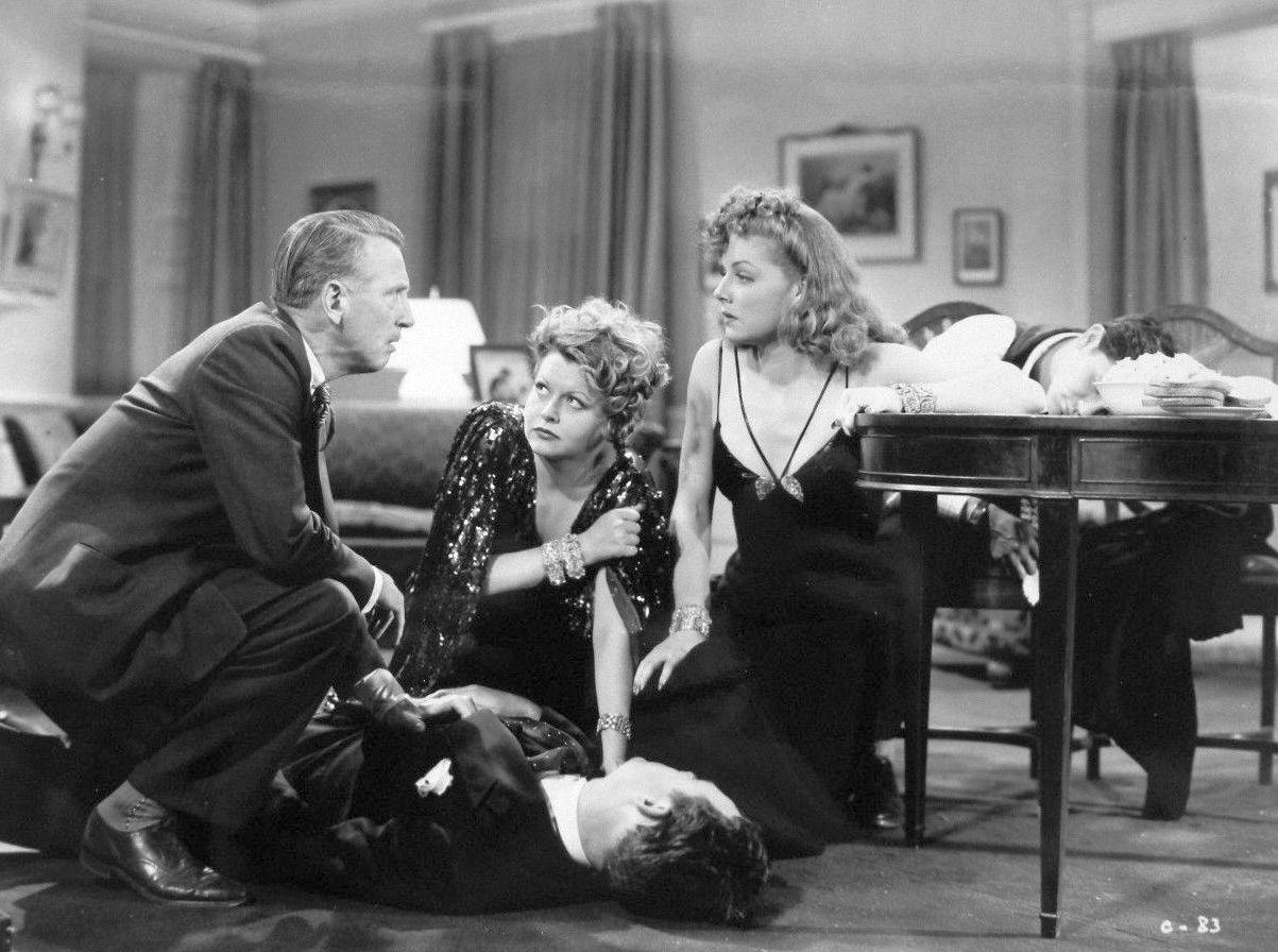 John Garfield, Robert Gleckler, Barbara Pepper, John Ridgely, and Ann Sheridan in They Made Me a Criminal (1939)