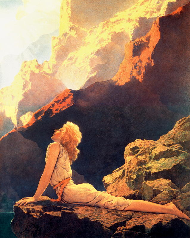 Authoritative answer, maxfield parrish swinging girl your