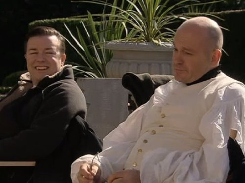 Ricky Gervais and Ross Kemp in Extras (2005)