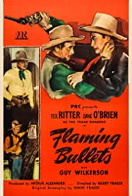 I. Stanford Jolley, Dave O'Brien, Tex Ritter, and Guy Wilkerson in Flaming Bullets (1945)