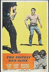 Glenn Ford and Jeanne Crain in The Fastest Gun Alive (1956)