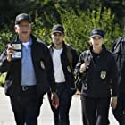Mark Harmon, Wilmer Valderrama, Sean Murray, and Emily Wickersham in NCIS: Naval Criminal Investigative Service (2003)