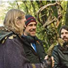 Richard Brake, Giles Alderson & Andrew Rodger on set of Knights of Camelot