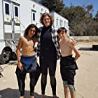 Reid Miller with Blake Burt and Parker Contreras on the set of Training Day