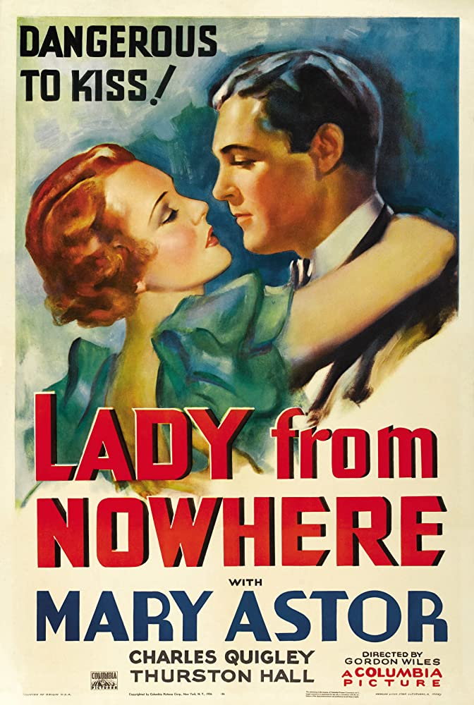Mary Astor and Charles Quigley in Lady from Nowhere (1936)