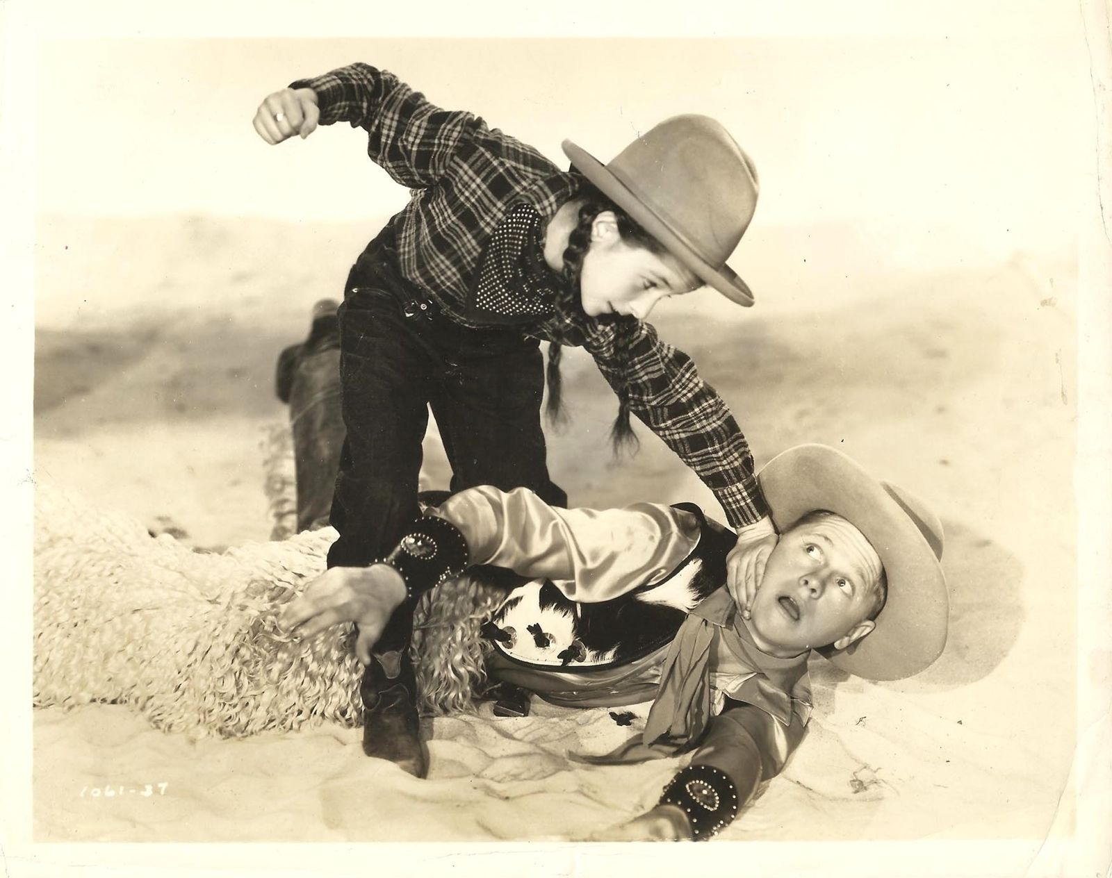 Mickey Rooney and Virginia Weidler in Out West with the Hardys (1938)
