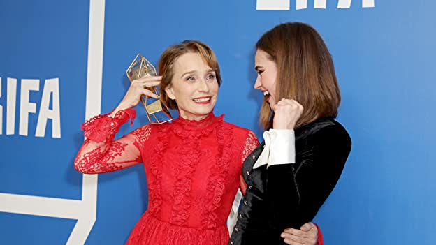 Kristin Scott Thomas and Lily James
