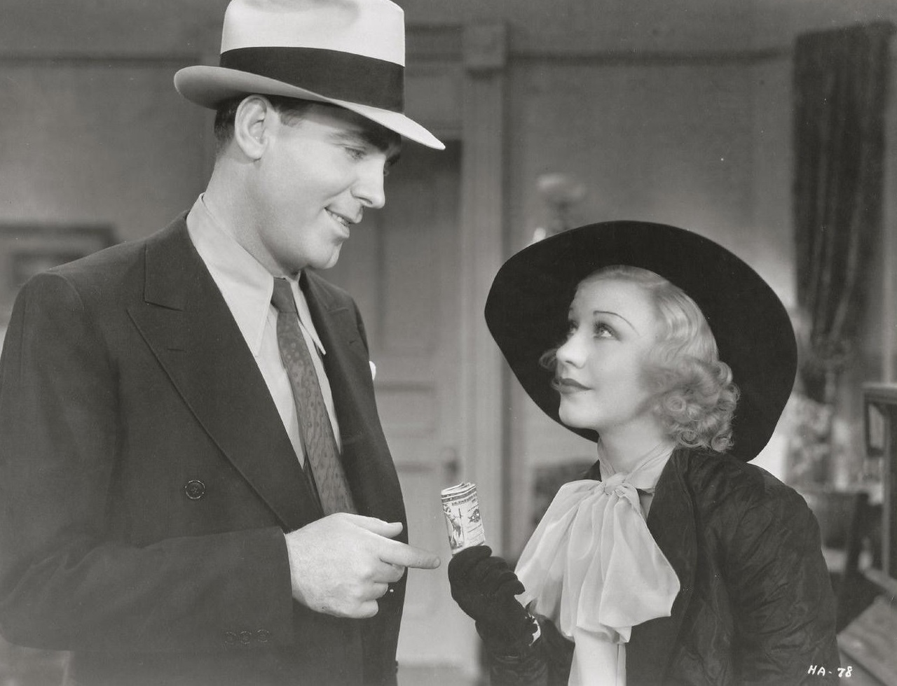 Ginger Rogers and Pat O'Brien in Twenty Million Sweethearts (1934)