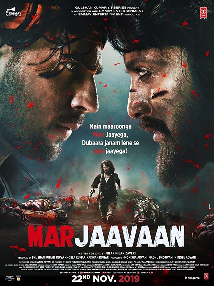 Marjaavaan (2019) Hindi Movie 720p WEB-HDRip x264 1.2 Download