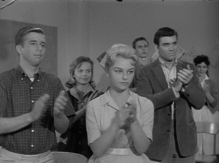 Beau Bridges, Patty McCormack, and Judee Morton in The Explosive Generation (1961)
