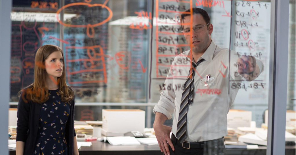 Ben Affleck and Anna Kendrick in The Accountant (2016)