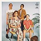Rigmor Ranthe, Mikkel Boe Følsgaard, Jessica Dinnage, and Kaya Toft Loholt in En helt almindelig familie (2020)