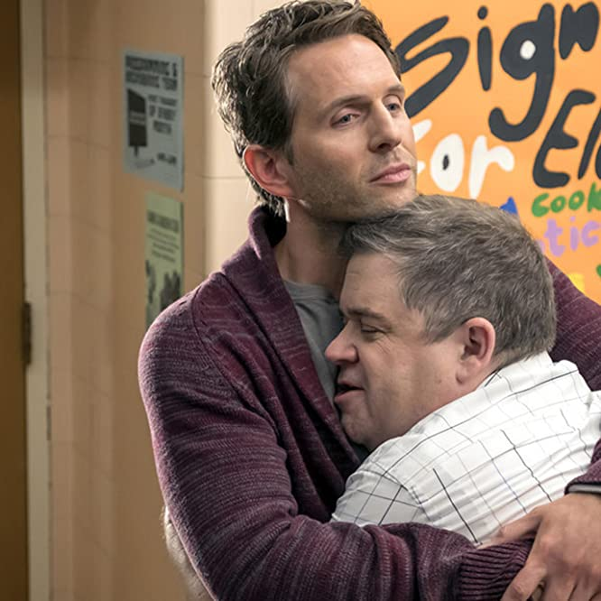 Patton Oswalt and Glenn Howerton in A.P. Bio (2018)