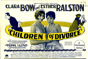 Clara Bow and Esther Ralston in Children of Divorce (1927)
