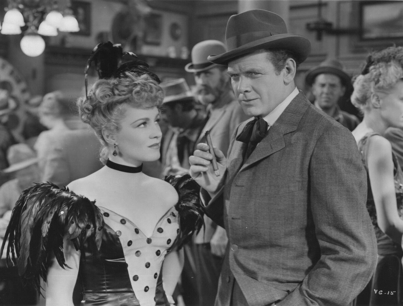 Charles Bickford and Claire Trevor in Valley of the Giants (1938)
