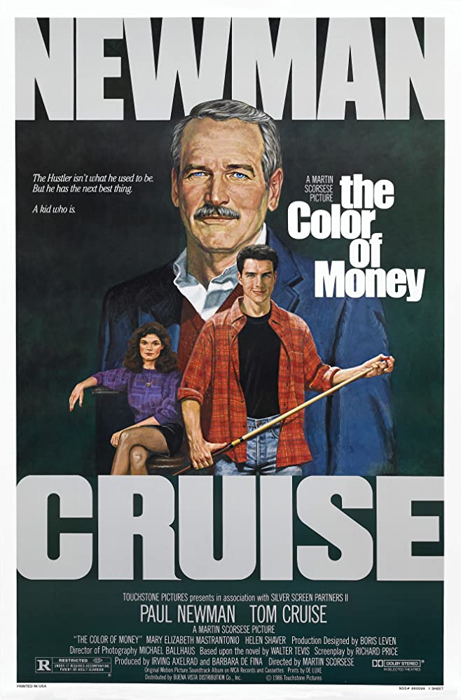 Paul Newman, Tom Cruise, and Mary Elizabeth Mastrantonio in The Color of Money (1986)