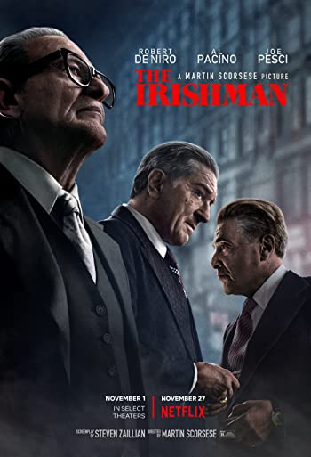 Poster of The Irishman 2019 Full Hindi Dual Audio Movie Download HDRip 720p