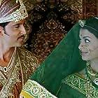 Hrithik Roshan and Aishwarya Rai Bachchan in Jodhaa Akbar (2008)