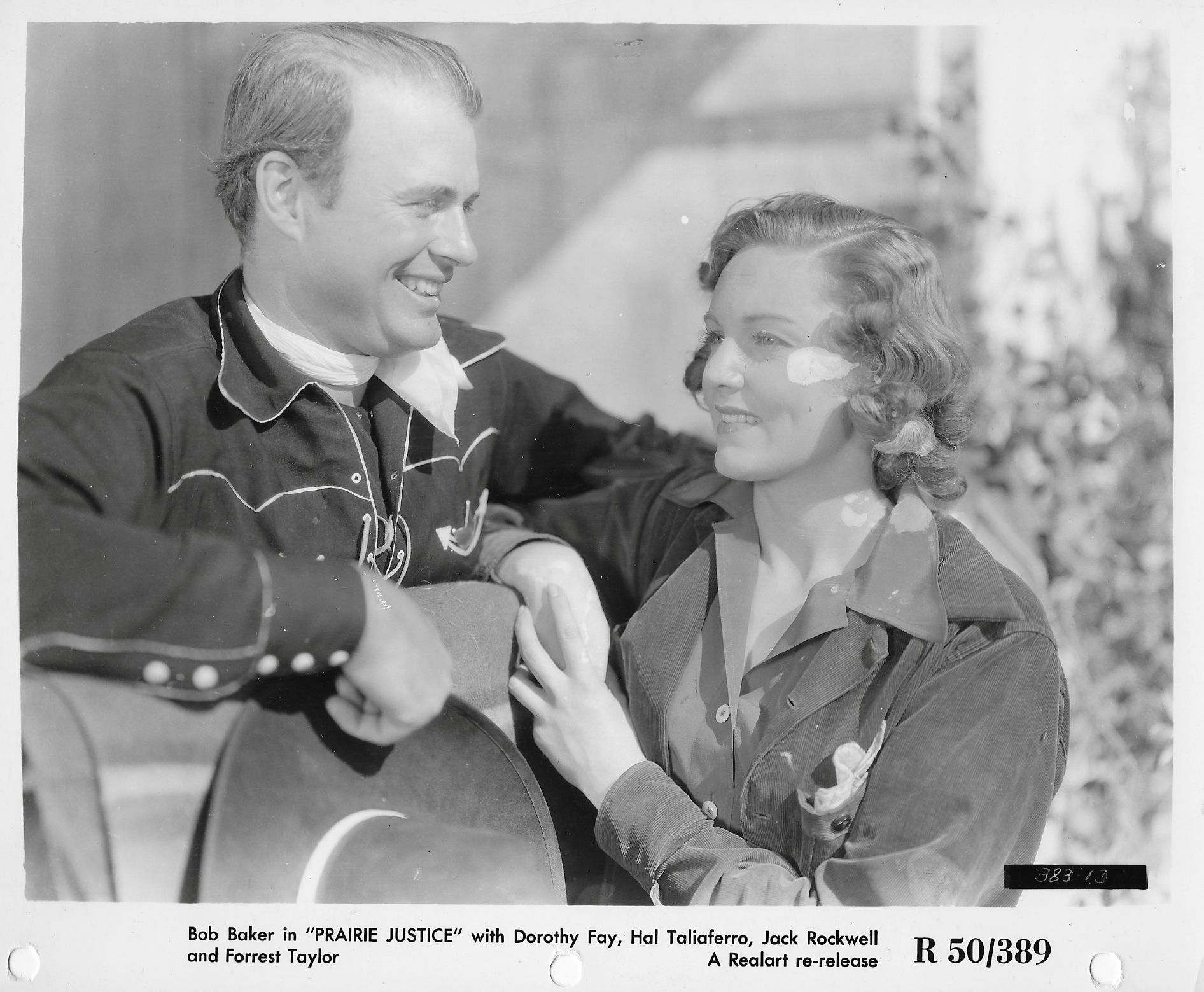Bob Baker and Dorothy Fay in Prairie Justice (1938)