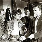 John Drew Barrymore, John Archer, Frank Cordell, and Clem Fuller in High Lonesome (1950)