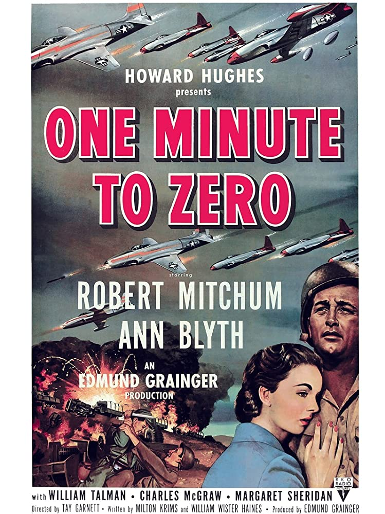 Robert Mitchum and Ann Blyth in One Minute to Zero (1952)