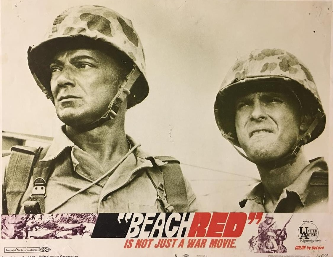 Rip Torn and Cornel Wilde in Beach Red (1967)