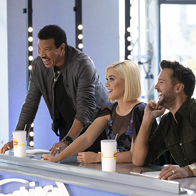 Lionel Richie, Luke Bryan, and Katy Perry in American Idol (2002)