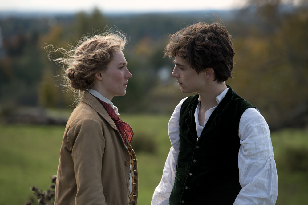 Saoirse Ronan and Timothée Chalamet in Little Women (2019)