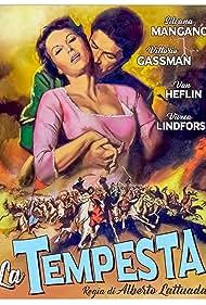 Van Heflin, Vittorio Gassman, Alberto Lattuada, Viveca Lindfors, and Silvana Mangano in La tempesta (1958)