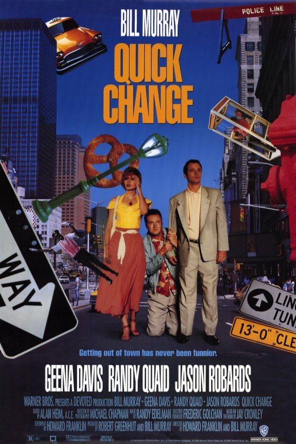 Geena Davis, Bill Murray, and Randy Quaid in Quick Change (1990)