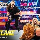 Rebecca Quin, Ronda Rousey, and Ashley Fliehr in WWE Fastlane (2019)