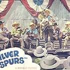 Roy Rogers, Pat Brady, Hugh Farr, Karl Farr, Bob Nolan, Lloyd Perryman, Sons of the Pioneers, and Tim Spencer in Silver Spurs (1943)