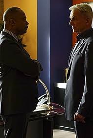 Mark Harmon and Rocky Carroll in NCIS: Naval Criminal Investigative Service (2003)