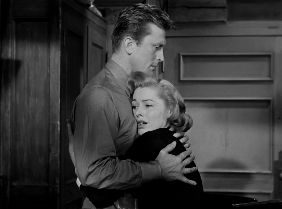 Kirk Douglas and Eleanor Parker in Detective Story (1951)