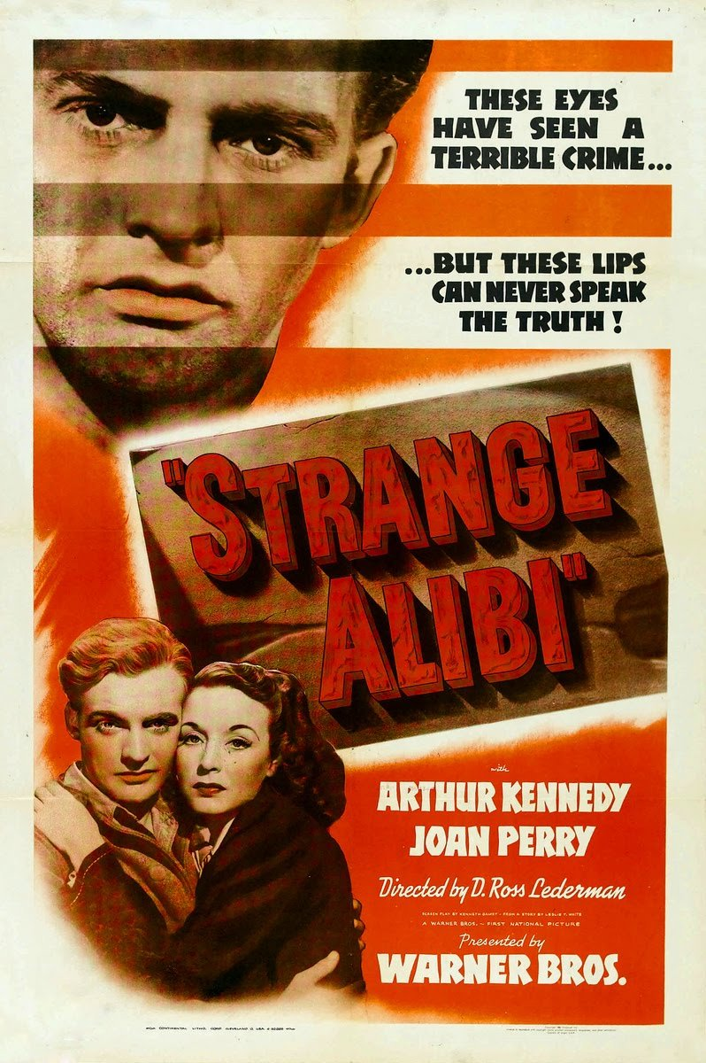 Arthur Kennedy and Joan Perry in Strange Alibi (1941)