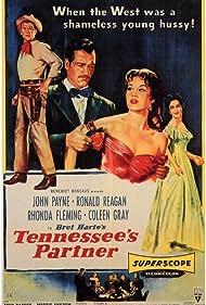 Ronald Reagan, Rhonda Fleming, Coleen Gray, and John Payne in Tennessee's Partner (1955)