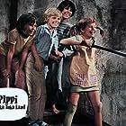 Staffan Hallerstam, Inger Nilsson, Maria Persson, and Pär Sundberg in Pippi Långstrump på de sju haven (1970)