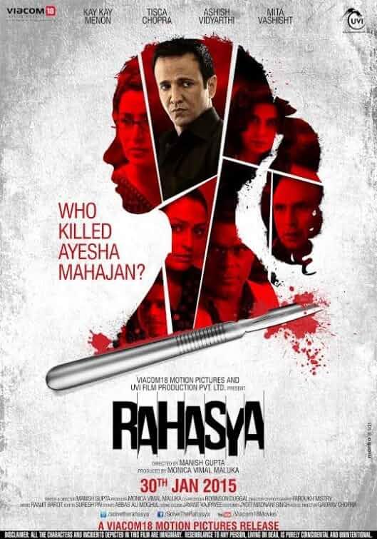 Rahasya (2015) Hindi 720p HEVC HDRip x265 ESubs [550MB] Full Bollywood Movie