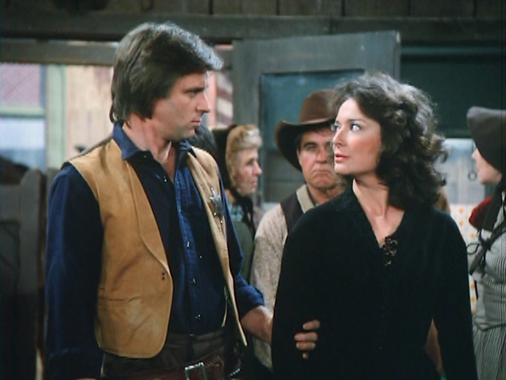 Dixie Carter and Joel Higgins in Best of the West (1981)