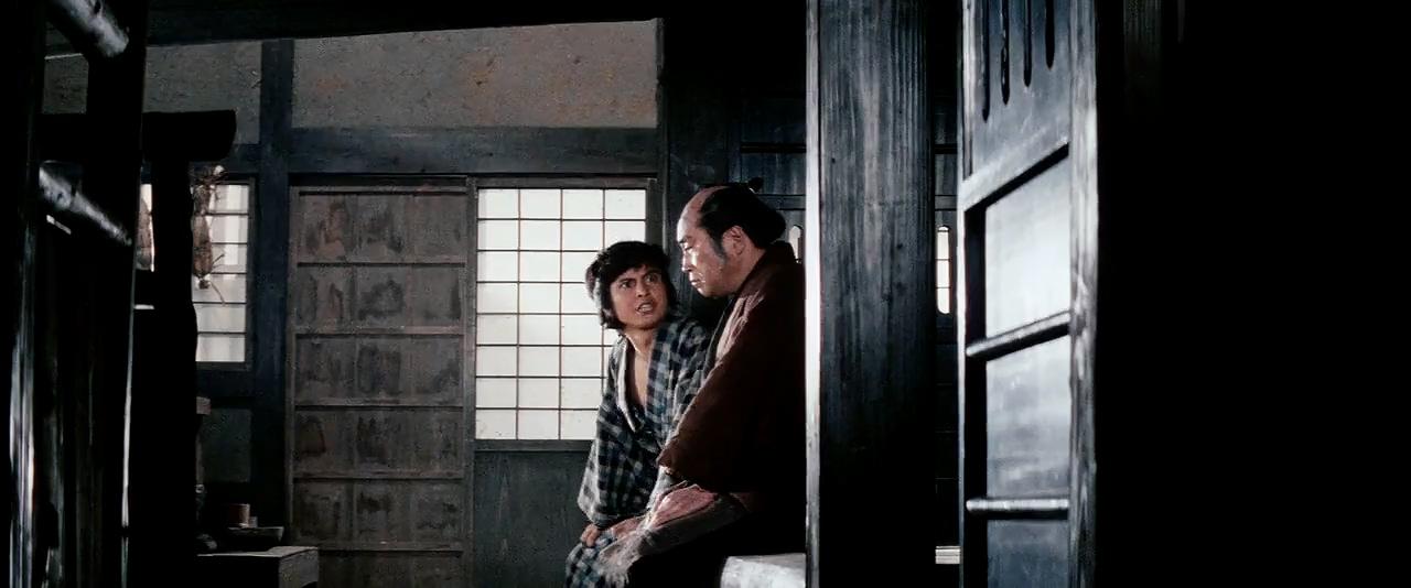 Hisaya Morishige and Osamu Sakai in Zatôichi goyô-tabi (1972)