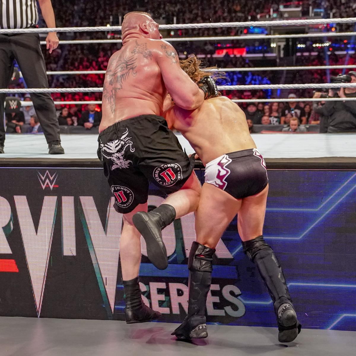 Brock Lesnar and Bryan Danielson in WWE Survivor Series (2018)