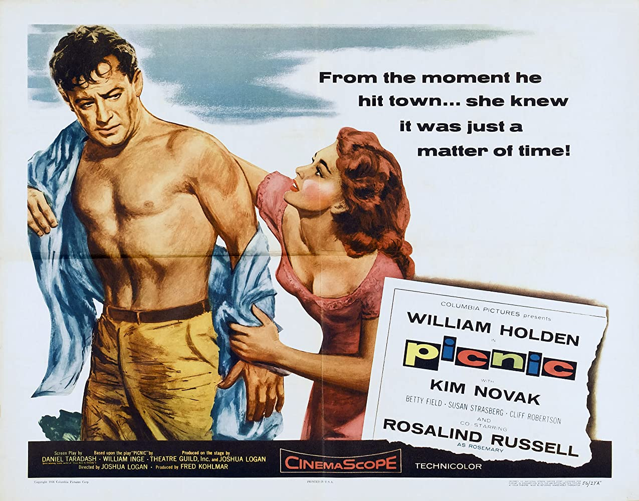 William Holden and Kim Novak in Picnic (1955)