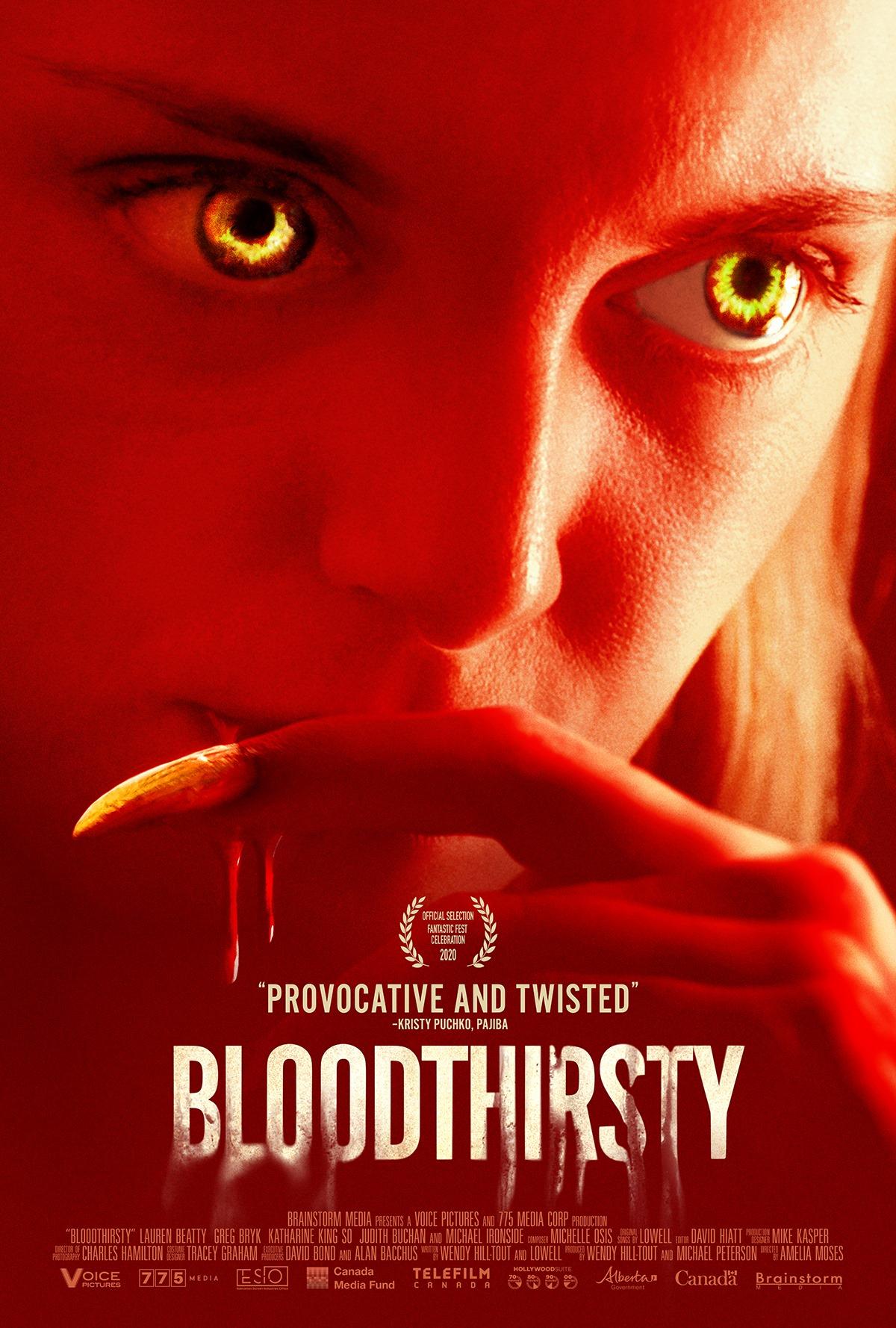 Bloodthirsty (2020) Telugu Dubbed (Voice Over) & English [Dual Audio] WebRip 720p [1XBET]