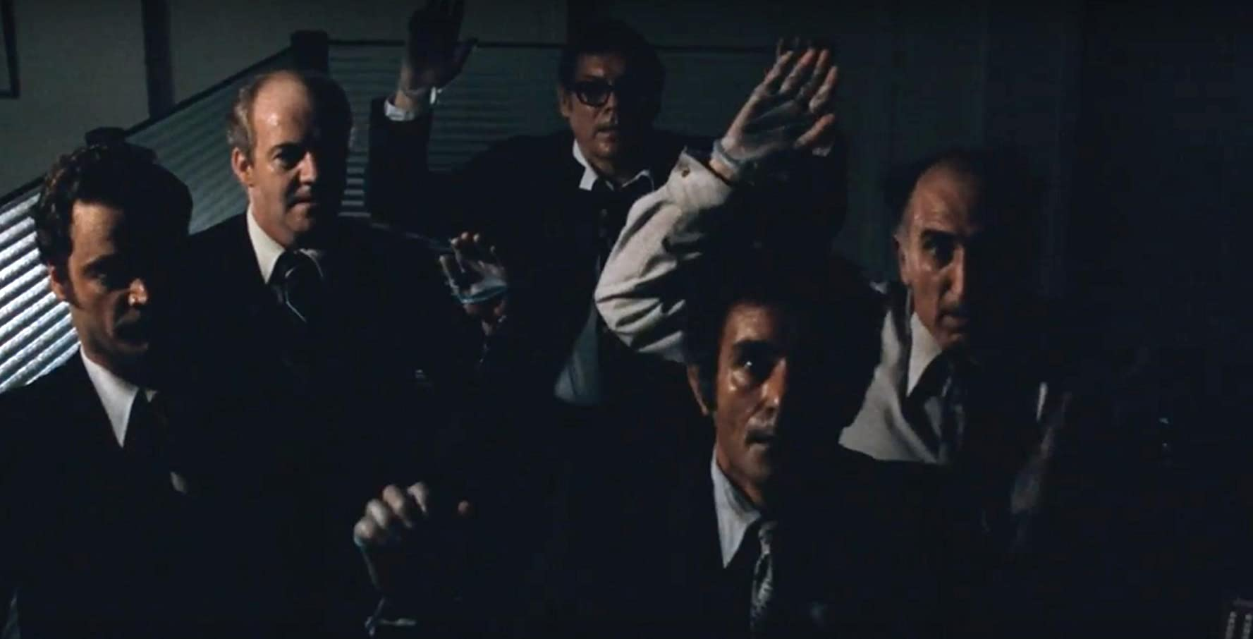 David Arkin, Henry Calvert, Dominic Chianese, Nate Esformes, and Ron Hale in All the President's Men (1976)