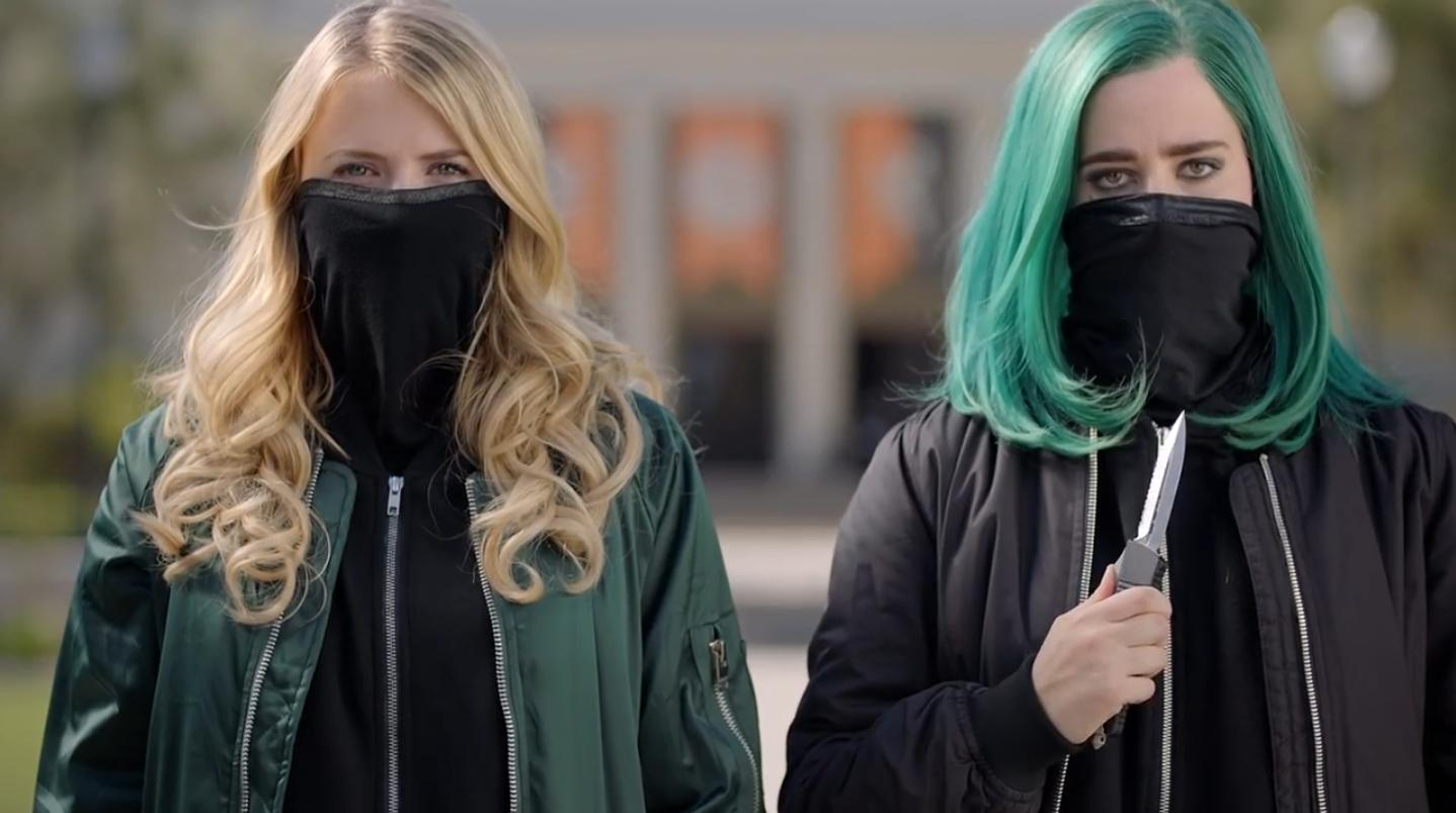 Eliza Bennett and Taylor Dearden in Sweet/Vicious (2016)