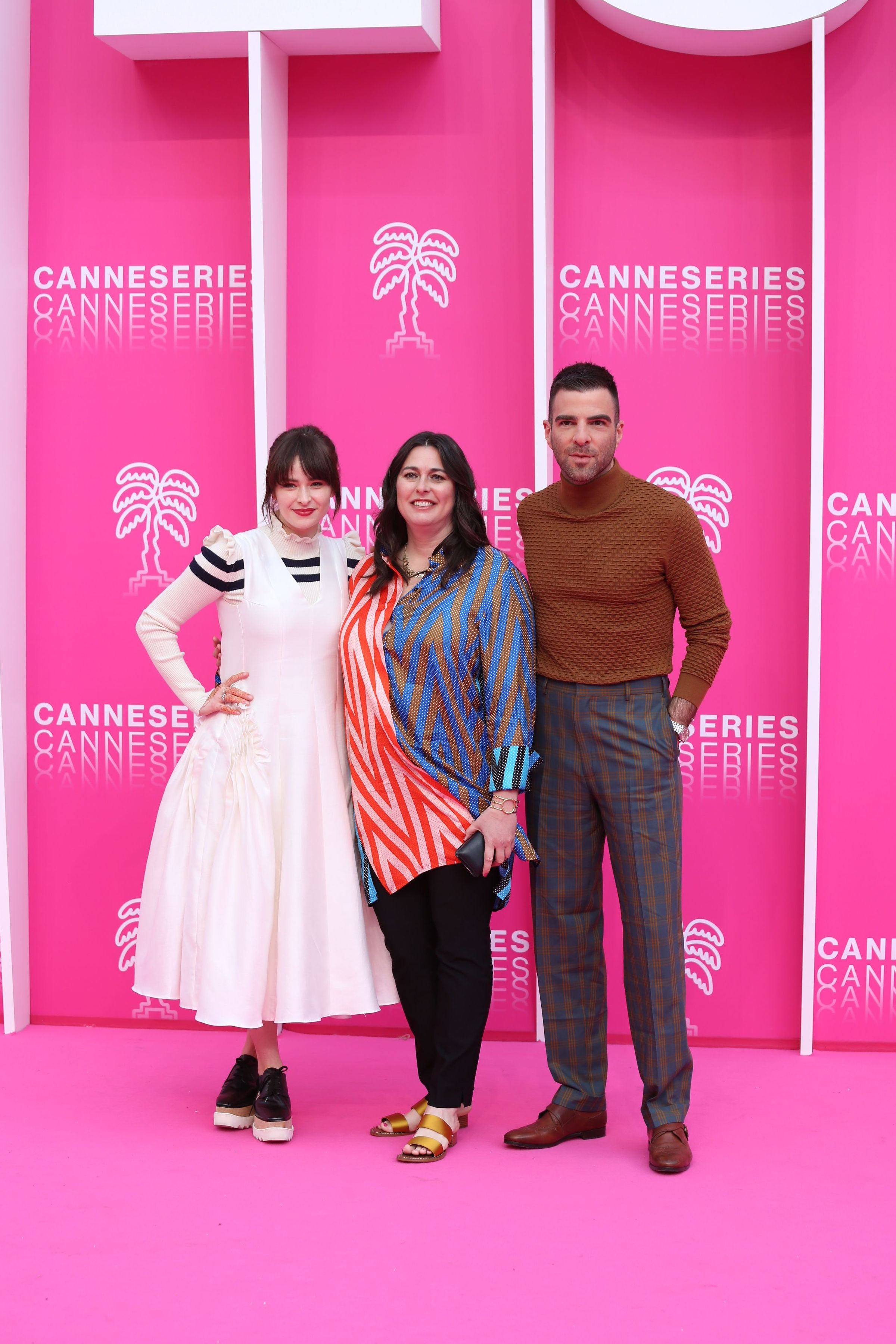 Zachary Quinto, Jami O'Brien, and Ashleigh Cummings at an event for NOS4A2 (2019)