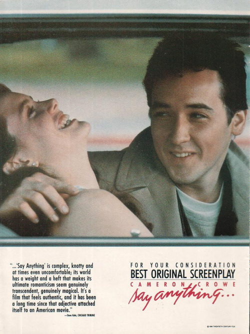 1989 Say Anything... Movie Poster