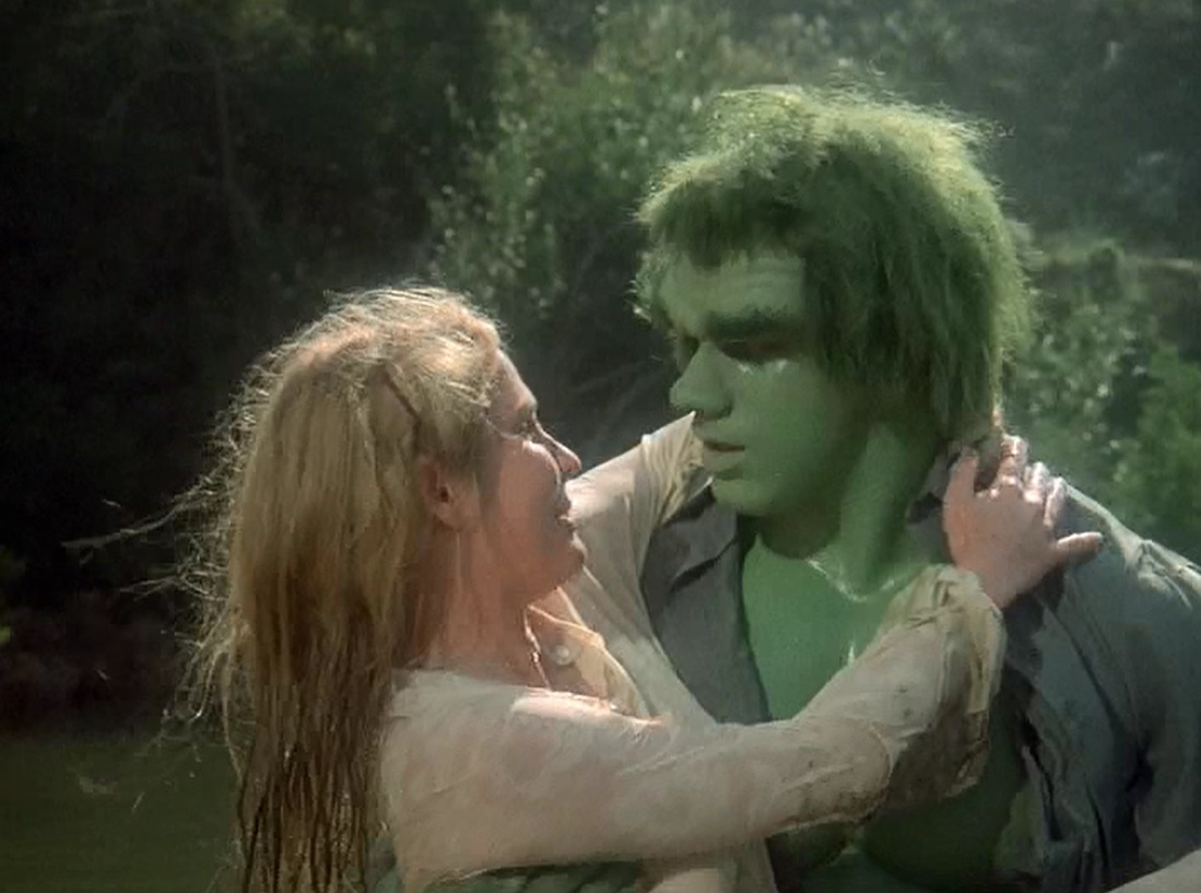 Lou Ferrigno and Laurie Prange in The Incredible Hulk (1978)
