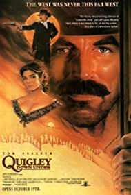 Alan Rickman, Laura San Giacomo, and Tom Selleck in Quigley Down Under (1990)