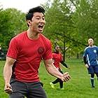 Simu Liu in Soccer Dad (2020)